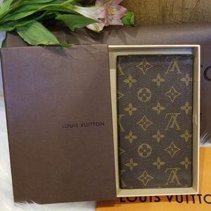 AUTH Louis Vuitton card holder checkbook wallet